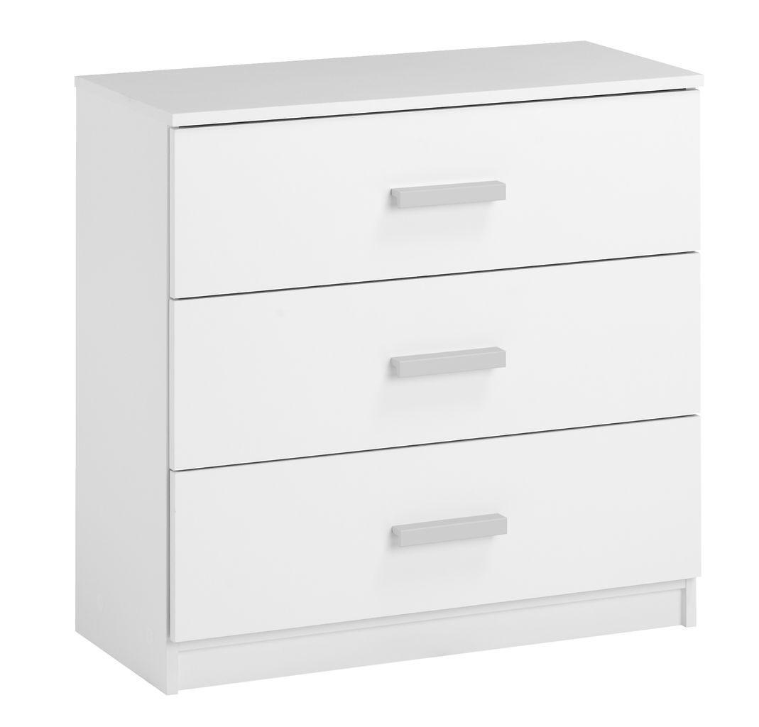🏡Комод с 3-мя выдвижными ящиками 71 см, цвет белый | Комод -шкафчик 2-х дверный, Комод -шкафчик, Комод, комод, тумбы 2-х дверная, Комод с 4-мя