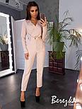 Женский брючный костюм с блузой на запах и зауженными брюками vN3441, фото 4