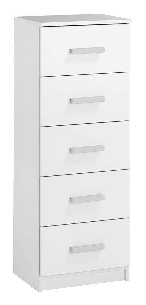 🏡Комод узкий с 5-мя выдвижным ящиками 41 см, цвет белый | Комод -шкафчик 2-х дверный, Комод -шкафчик, Комод, комод, тумбы 2-х дверная, Комод с 4-мя