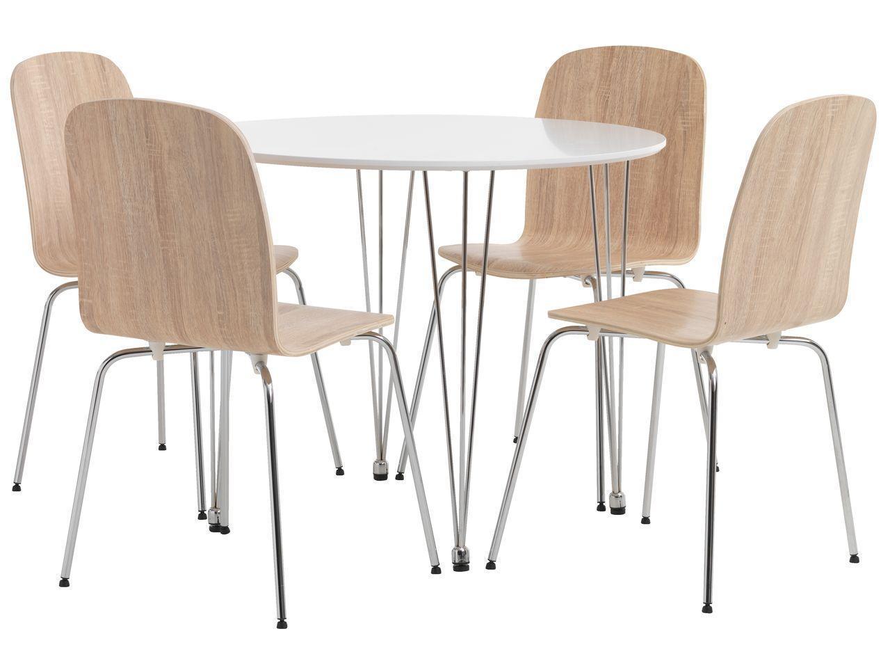 🏡Комплект кухонный мебели (круглый стол и 4 стула ) | Комплект кухонный мебели