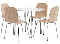 🏡Комплект кухонный мебели (круглый стол и 4 стула ) | Комплект кухонный мебели, фото 1