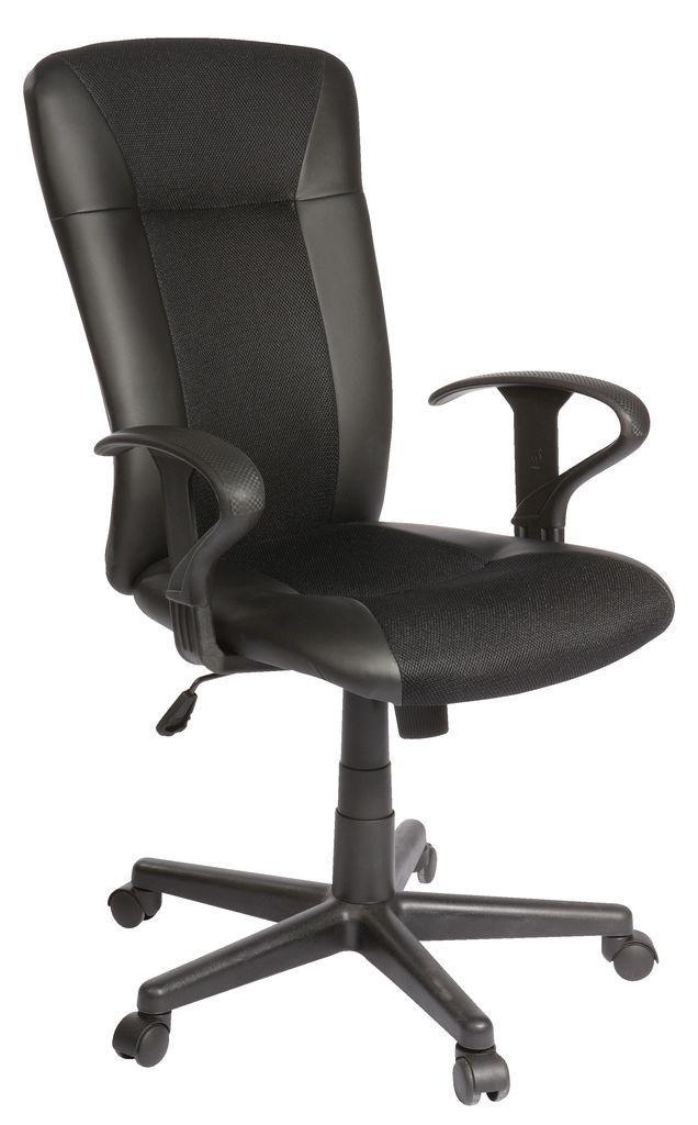 🏡Кресло офисное на колесиках черное кожаное с ручками | кресло офис, кресло офисное, кресло компьютерное, кресло комптютерное, кресло черное офисное