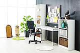 🏡Кресло офисное на колесиках черное кожаное с ручками | кресло офис, кресло офисное, кресло компьютерное, кресло комптютерное, кресло черное офисное, фото 3
