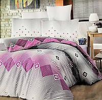 """Комплект постельного белья """"Victoria"""" Adriana Фиолетовый Ranfors (двуспальный евро)"""
