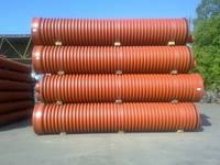 Труба гофрированная 160х3000мм для наружной канализации