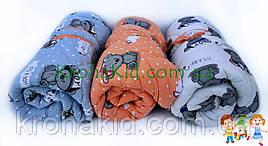 Детское стеганное одеяло в кроватку / манеж - детское одеяльце для новорожденных 100х135 см
