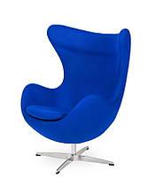 Дизайнерське крісло-яйце Egg Classic / хромована ніжка
