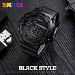 Спортивні водонепроникні годинники Skmei 1243 Black-Red, фото 4