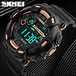 Спортивні водонепроникні годинники Skmei 1243 Black-Red, фото 5