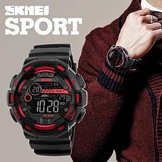 Спортивні водонепроникні годинники Skmei 1243 Black-Red, фото 2