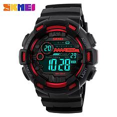 Спортивні водонепроникні годинники Skmei 1243 Black-Red