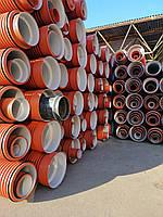 Труба гофрированная 200х6000мм для наружной канализации