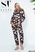 Теплый женский костюм / плащевка, синтепон 150 / Украина 47-2069, фото 1
