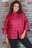 Куртка - жилетка с рукавом 3/4 ХИТ 2019/20, арт М524, цвет вишнёвый