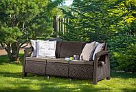 Набор садовой мебели Bahamas Love Seat Max Brown ( коричневый ) из искусственного ротанга, фото 1