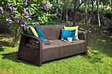 Набір садових меблів Bahamas Love Seat Max Brown ( коричневий ) з штучного ротанга (Allibert by Keter), фото 5