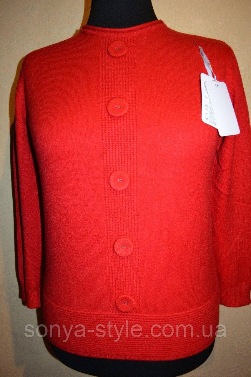 Женская кофта  с пуговицами на груди     больших размеров