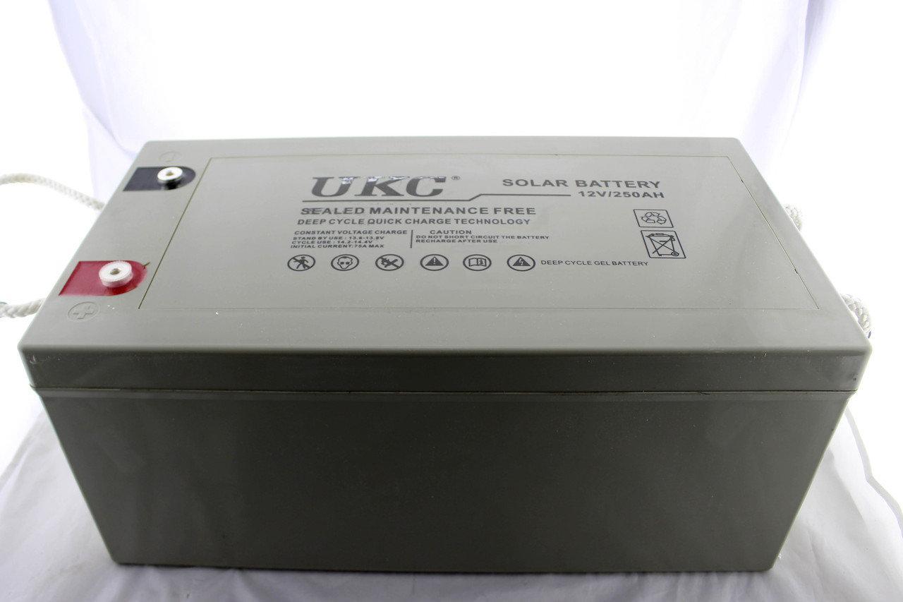 Гелиевый аккумулятор BATTERY GEL 12V 250A UKC
