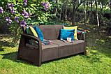 Набір садових меблів Bahamas Love Seat Max Brown ( коричневий ) з штучного ротанга (Allibert by Keter), фото 7