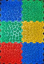 Коврик массажный с эффектом морской гальки Пазлы 6 элементов