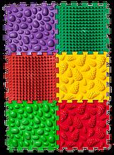 Ортопедический массажный коврик Пазлы Микс 6 элементов