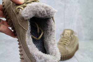 Ботинки женские Nev-Men P беж бежевые (замша, зима)