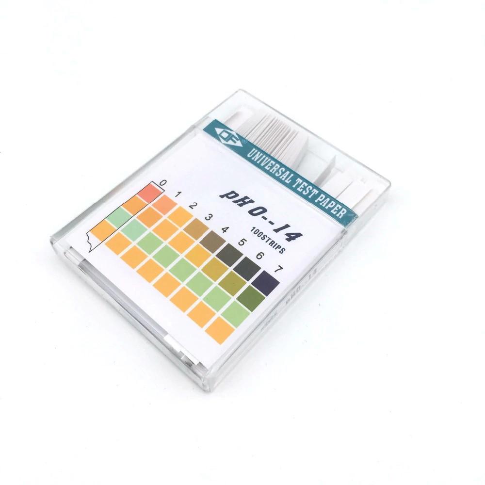 Лакмусовая индикаторная бумага pH тест (0-14 pH) 100 полосок в пластиковой коробке, фото 1