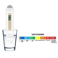 TDS-метр (солемер, анализатор качества воды) + термометр TDS-3 New (2 в 1), фото 1