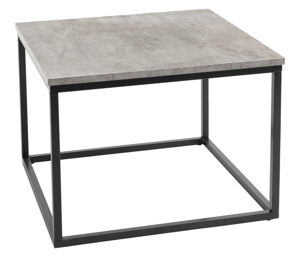 🏡Столик из метала квадратный 60x60 см (Отделка под бетон) | стол, столик, столик квадратный, столик бетон