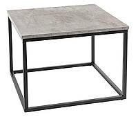 🏡Столик из метала квадратный 60x60 см (Отделка под бетон) | стол, столик, столик квадратный, столик бетон, фото 1
