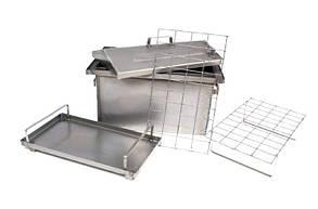 Коптильня Большая с гидрозатвором и крышкой домиком для горячего копчения (520х320х350)