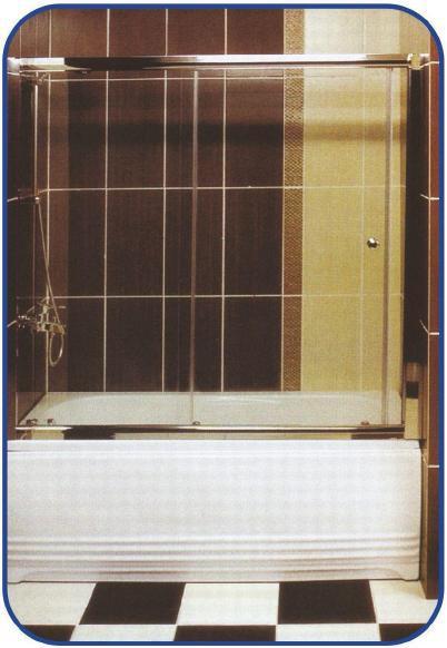 Раздвижная шторка на ванну 1500х1400, фото 1
