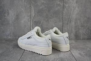 Ботинки женские Nev-Men P бел белые (замша, зима)