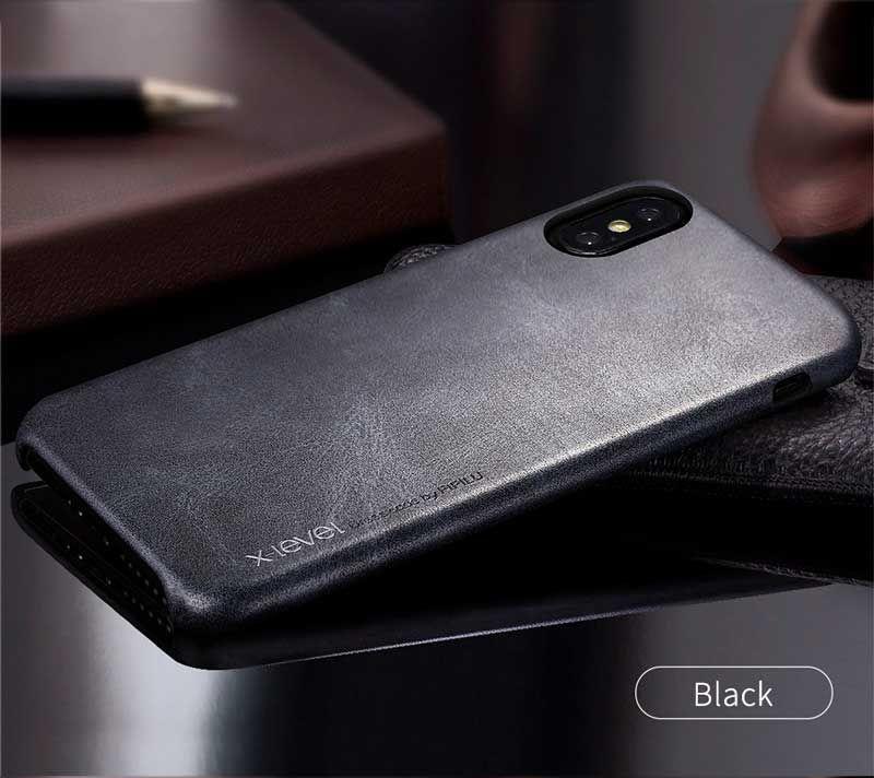 Чехол для iPhone X/XS X-Level Vintage Case Черный