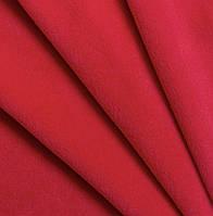 Ткань Флис (ш 160 см) цвет красный для пошива одежды, халатов,спортивных костюмчиков.