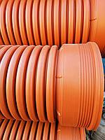 Труба гофрированная 300х3000мм для наружной канализации