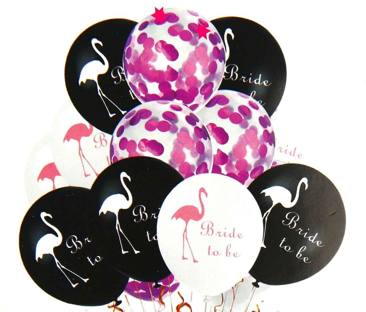 Набір повітряних кульок фламінго малиновий , 10 шт. Китай