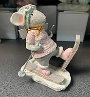Статуэтка Мышка Лыжник 192-006. Символ 2020 года