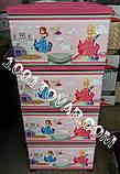 """Комод пластиковий, з малюнком """"Принцеси"""", 4 ящики, фото 4"""