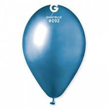 """Латексна кулька хром синій 13"""" / 92 / 33см Shiny Blue"""