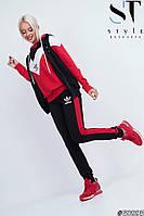 Женский спортивный костюм тройка / двунитка / Украина 47-2264, фото 1