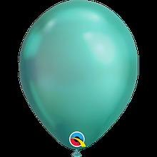 """Латексна кулька хром зелений 11"""" / 28см Green Qualatex (США)"""