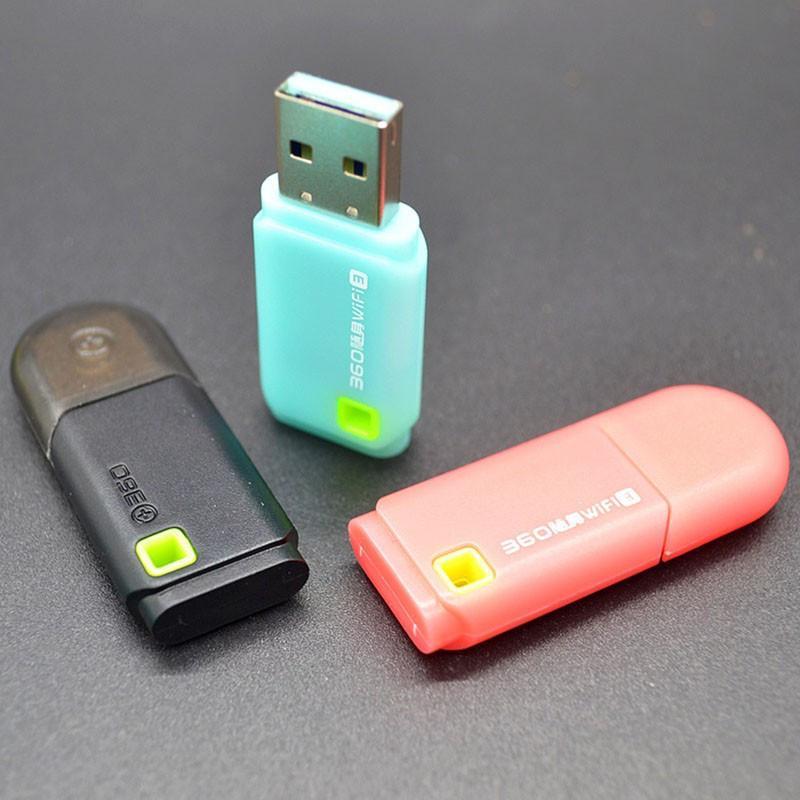 USB 360 wifi3 портативний міні адаптер роутер. 300Мб. Бірюзовий