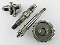 Редуктор 4т GY6-50/60/80сс, (1 амортизатор)