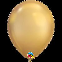 """Латексна кулька хром золото 11"""" / 28см Gold Qualatex (США)"""
