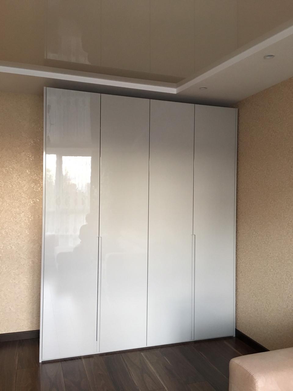 Шкаф в современном стиле с фасадами мдф краска глянец
