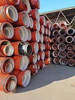 Труба гофрированная 600х6000мм для наружной канализации