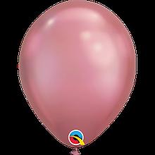 """Латексна кулька хром рожево-ліловий 11"""" / 28см Mauve Qualatex (США)"""