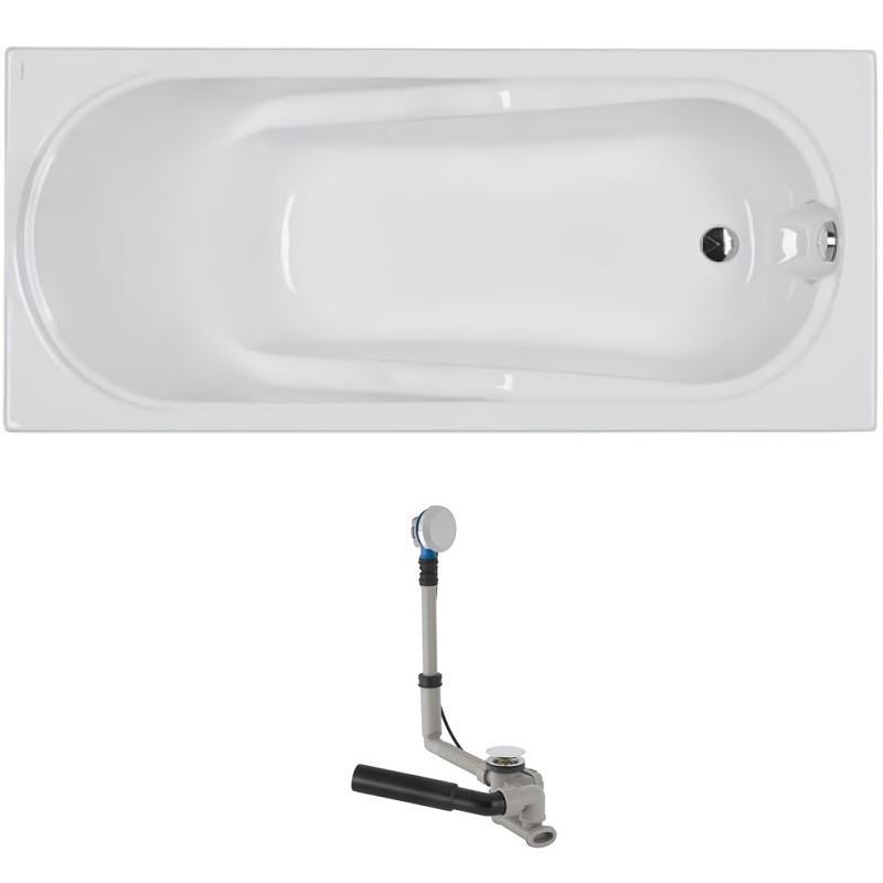 COMFORT ванна прямоугольная 170*75 см, в комплекте с сифоном Geberit 150.520.21.1, с ножками SN7