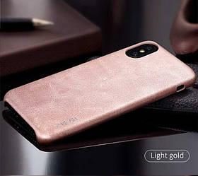 Чехол для iPhone Xs Max X-Level Vintage Case Золотистый